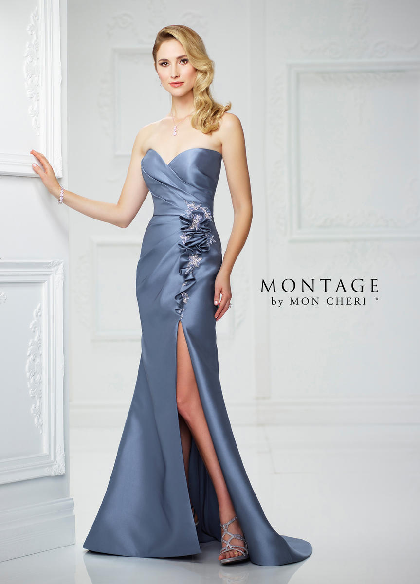 Montage By Mon Cheri 217939 Unique Ruffled Gown French