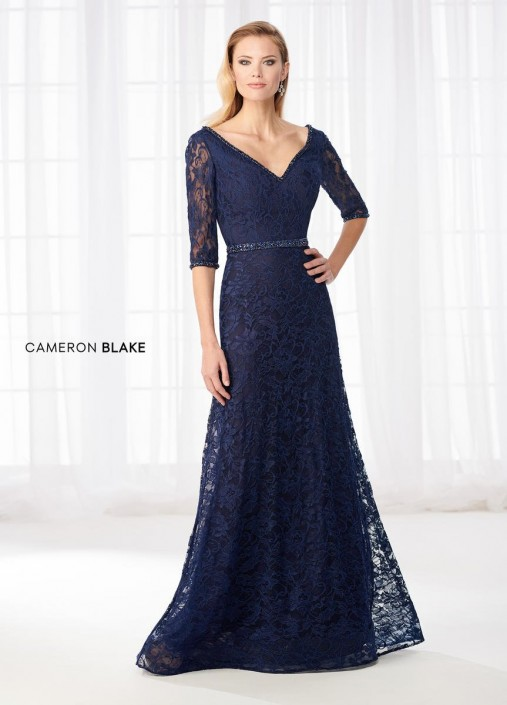 8bb585d0a763c Cameron Blake 218610 Lace Mother of the Bride Dress: French Novelty