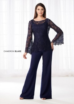 Cameron Blake 218611 Lace Mother Of The Bride Pantsuit
