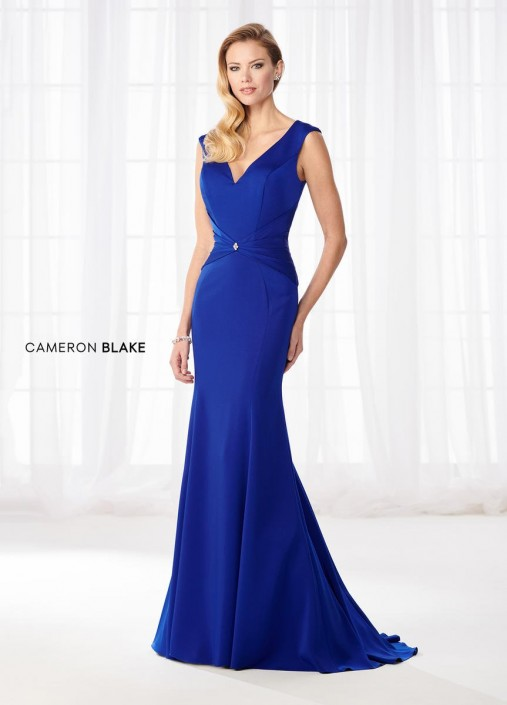4016ffcee9c5 Cameron Blake 218622 Flattering MOB Dress with Shawl: French Novelty