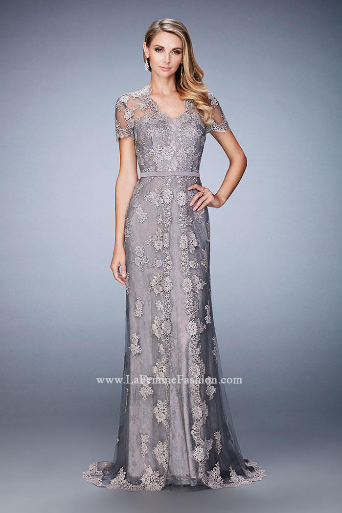 La Femme 21897 Lace Mother Of The Bride Dress French Novelty