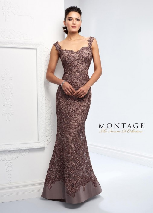 505b4f5927c Ivonne D 218D23 Metallic Lace Mother of the Bride Dress  French Novelty