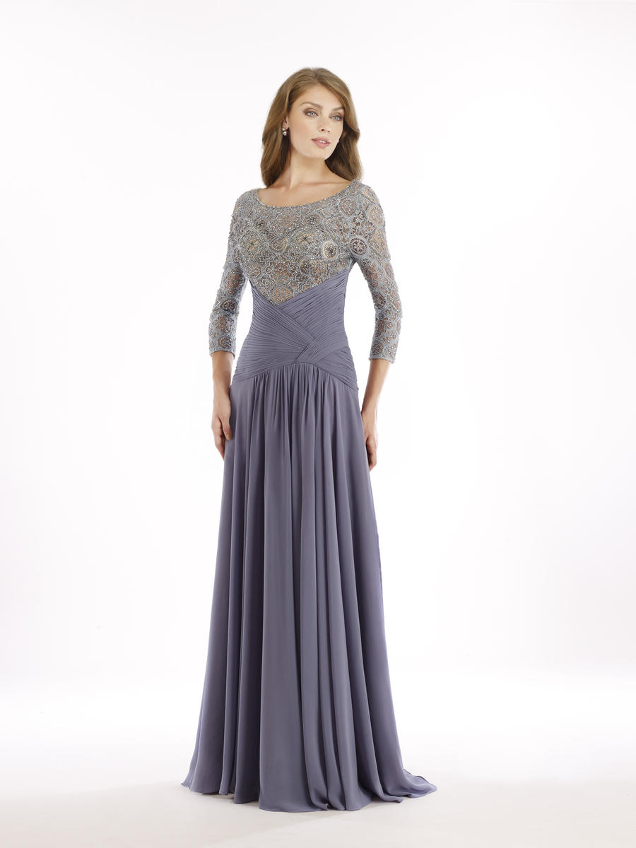 Rina Di Montella 2209 Sheer Sleeve Mothers Formal Gown
