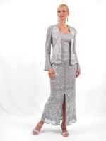 Damianou 2229 Lace Knit Mother of the Bride Dress image