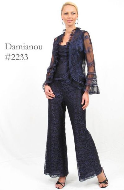 Damianou Lace 3pc Mother Of The Bride Pant Set 2233