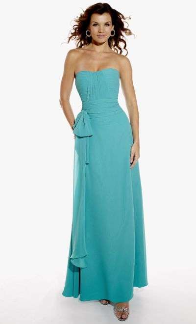 Pretty Maids Long Bridesmaid Dress with Ruched Top 22419: French ...