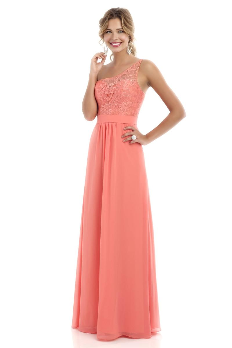 Alexia 224L One Shoulder Lace Long Bridesmaid Dress: French Novelty