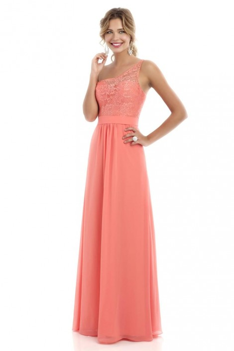 Alexia 224l One Shoulder Lace Long Bridesmaid Dress