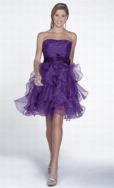 Pretty Maids 22507 Short Ruffle Organza Bridesmaid Dress by House ...