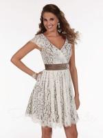 Christina Wu 22585 Short Lace Bridesmaid Dress image