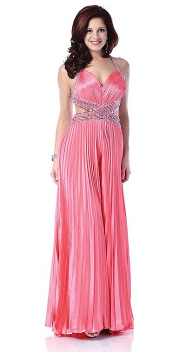 Johnathan Kayne Hot Coral Palazzo Pant Suit for Prom 226: French