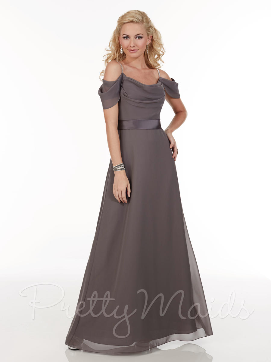 Christina Wu 22603 Cowl Neck Long Bridesmaid Dress French