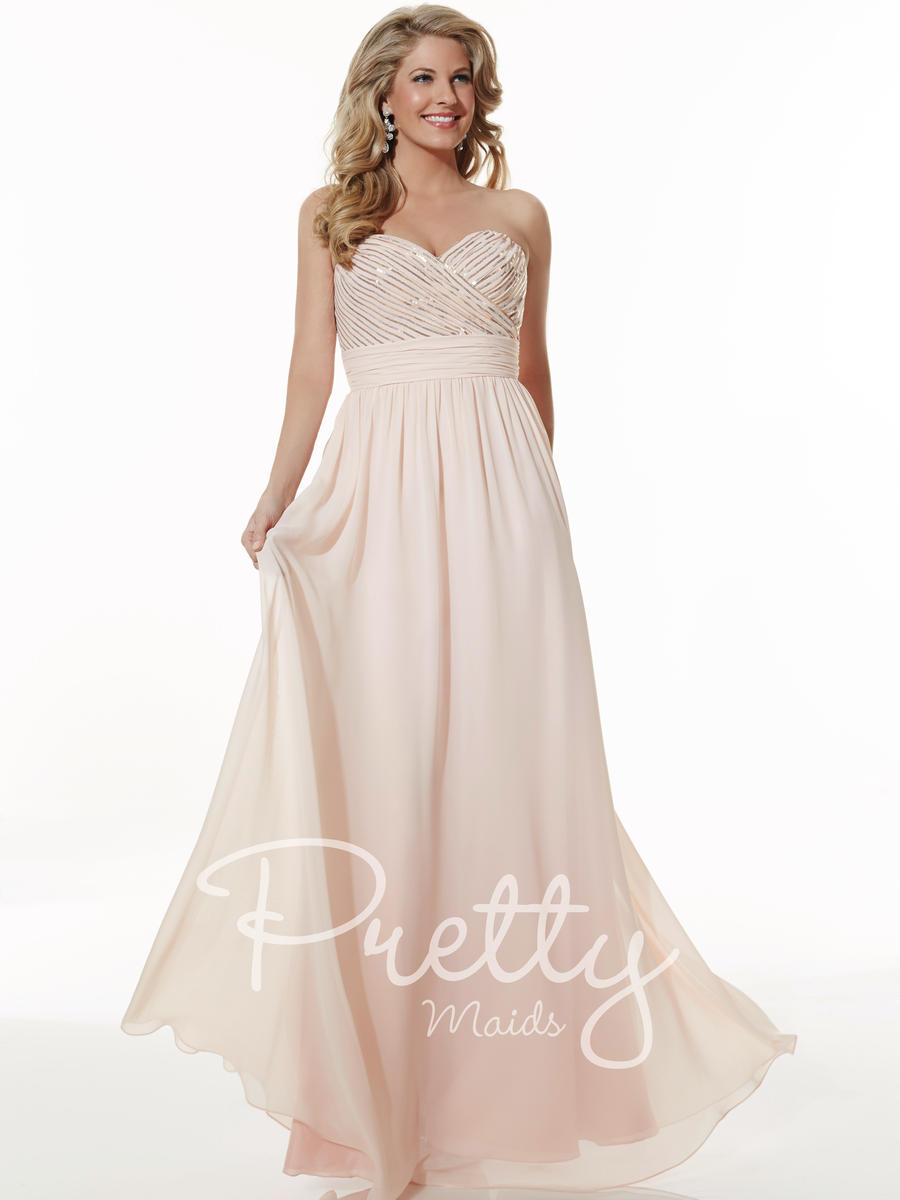 Christina Wu 22613 Sequin Chiffon Bridesmaid Dress: French Novelty