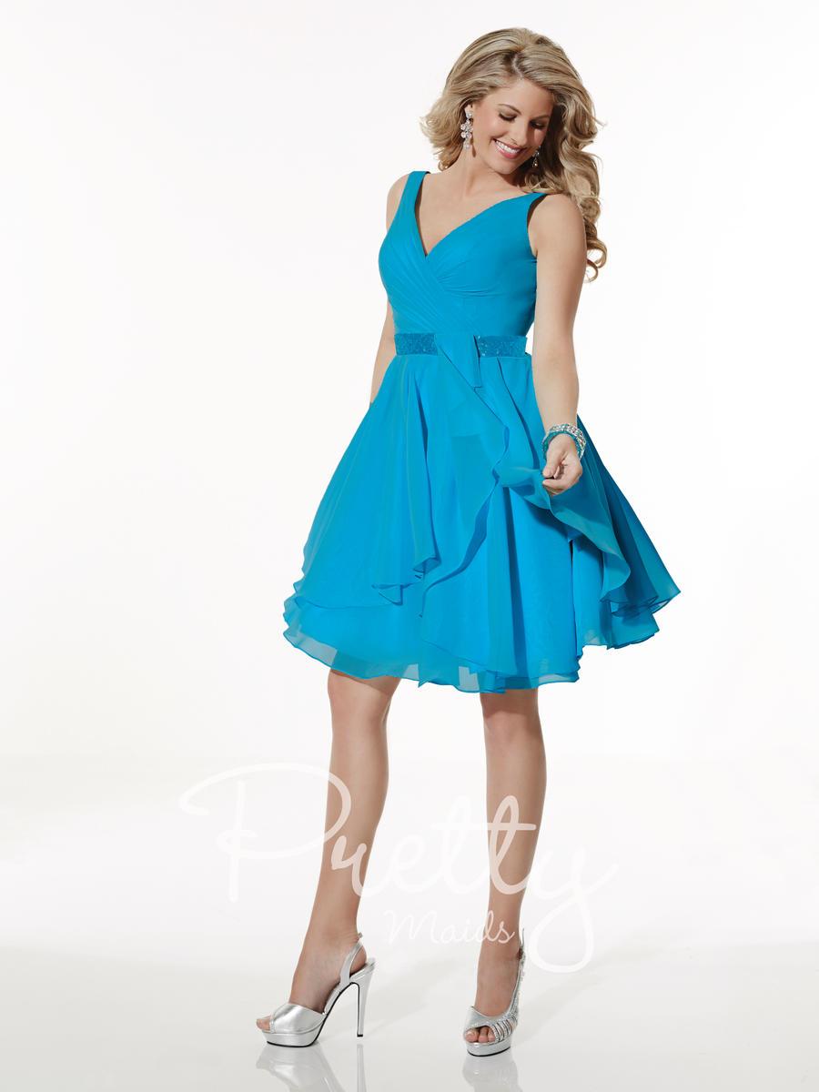 Christina Wu 22618 Short Bridesmaid Dress: French Novelty