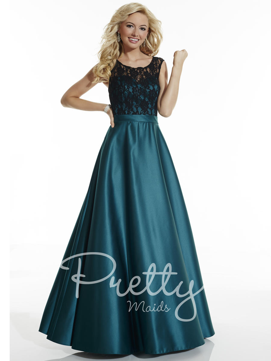 Christina Wu 22619 Lace Satin Bridesmaid Gown: French Novelty