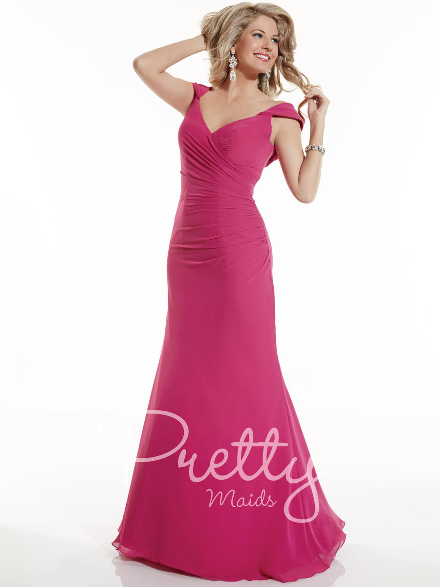 Christina Wu 22622 Cowl Back Bridesmaid Gown: French Novelty