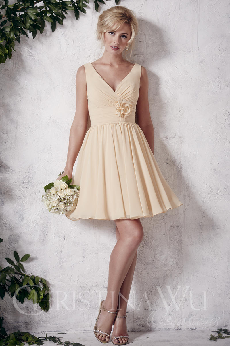 Christina Wu Occasions 22645 Short Bridesmaid Dress