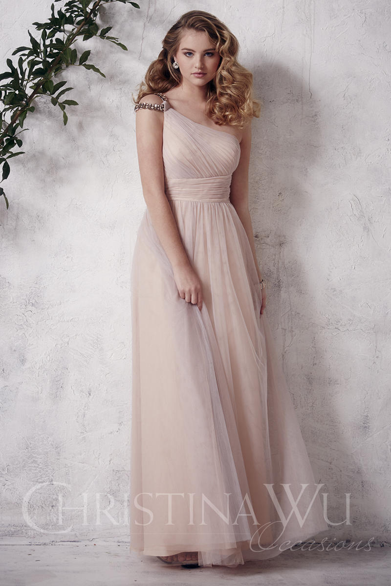 be4a5e133aee Christina Wu Occasions 22646 One Shoulder Bridesmaid Gown: French Novelty