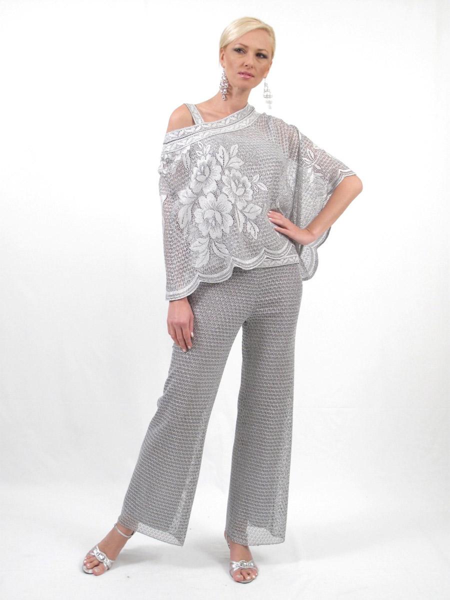 Damianou 2265 Three Piece Mob Lace Pant Set French Novelty