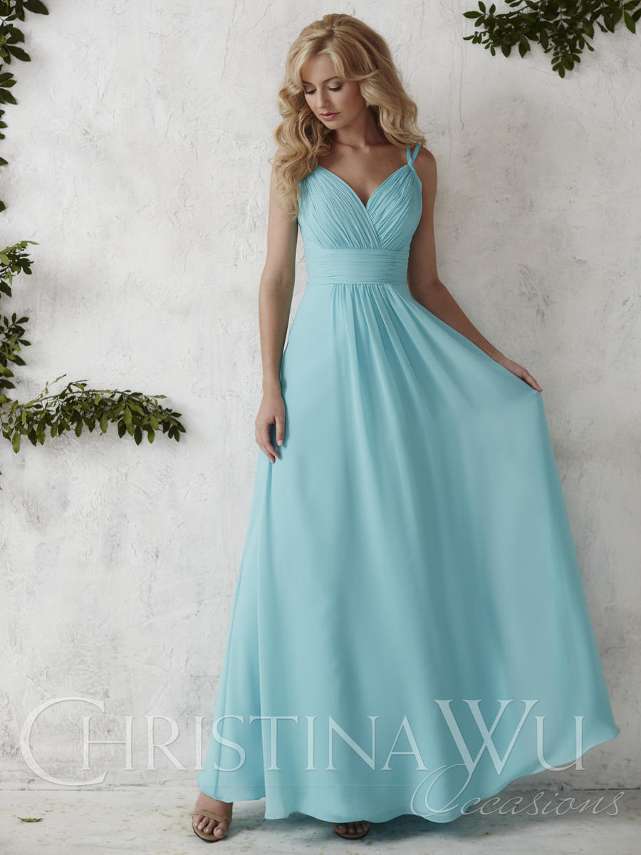 christina wu occasions 22681 v neck chiffon bridesmaid