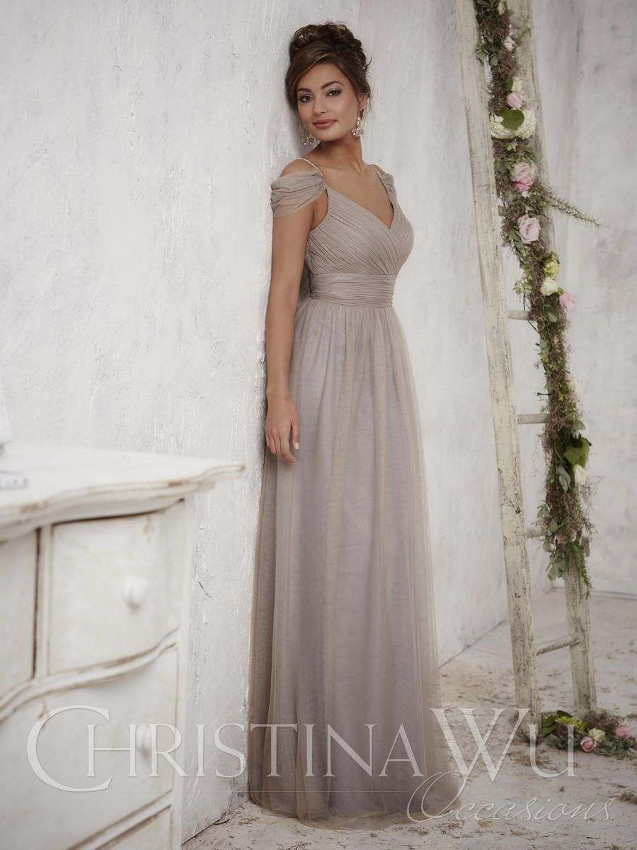 Christina Wu Occasions 22709 Off Shoulder Bridesmaid Gown: French ...