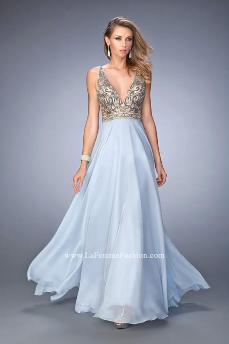 Gigi by La Femme 22725 Plunging V Neck Gown