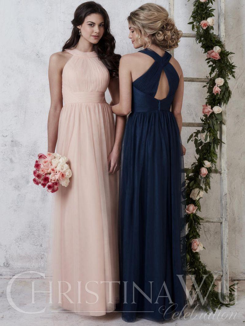 Christina Wu 22730 High Neck Tulle Bridesmaid Dress
