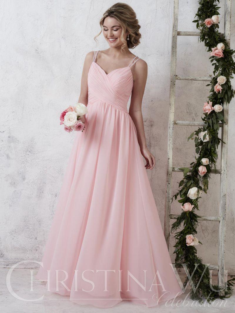Christina wu celebration 22732 long bridesmaid dress for Immediate resource wedding dresses