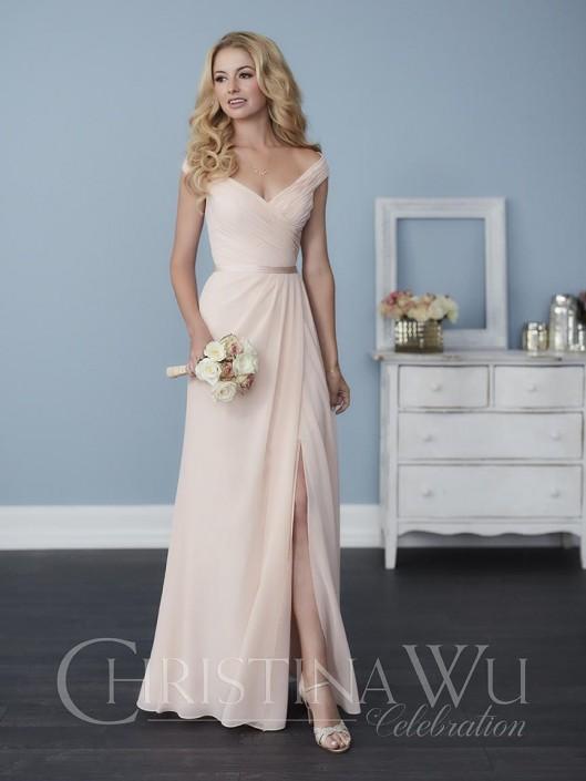 Christina Wu Celebration 22758 Off Shoulder Bridesmaid Dress