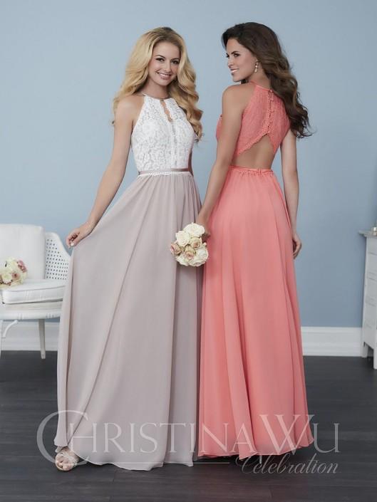 Christina Wu Celebration 22763 Lace Keyhole Bridesmaid Dress: French ...