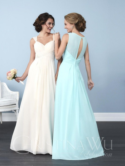 Christina Wu Celebration 22766 Illusion Bridesmaid Dress: French Novelty