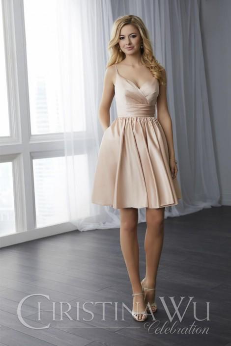 Size 14 Ivory Christina Wu Celebration 22778 Short Bridesmaid Dress ...