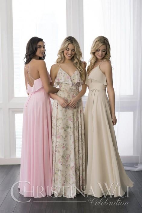325ea7b65 Christina Wu Celebration 22779 Flounce Bridesmaid Dress: French Novelty