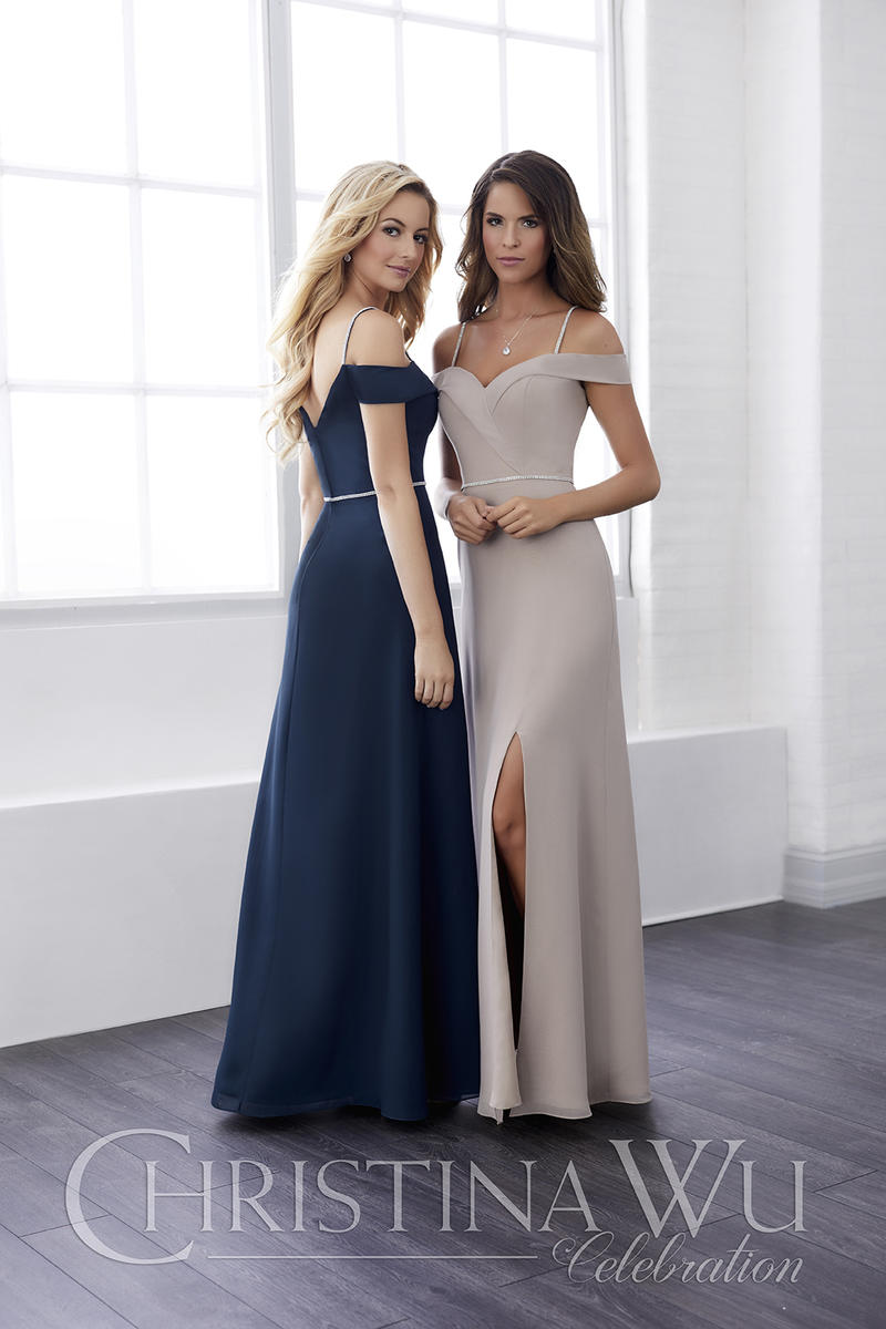 95c5da242218 Christina Wu 22825 Off Shoulder Bridesmaid Dress with Beading: French  Novelty