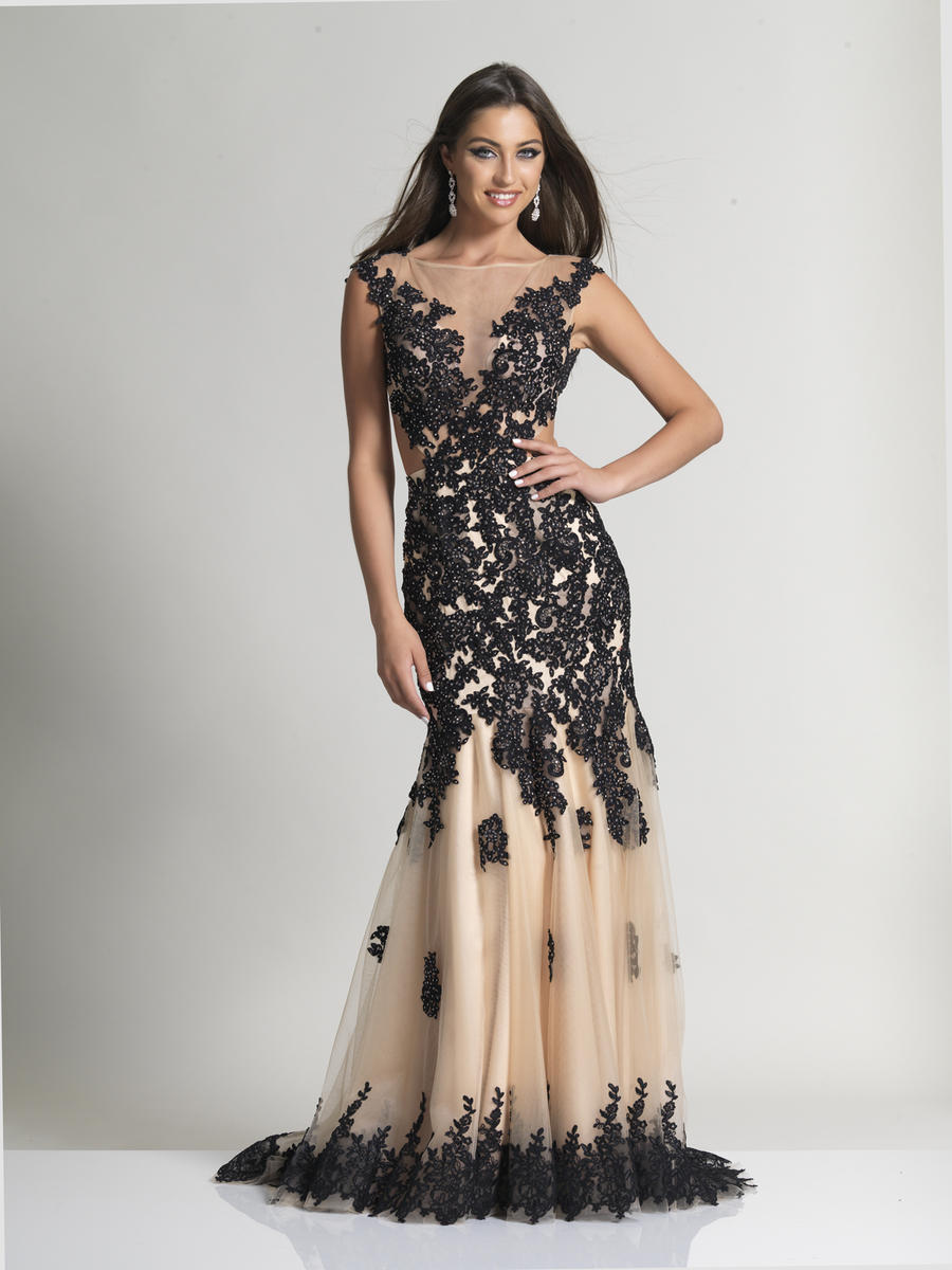 Dave and Johnny 2345 Lace and Tulle Prom Gown: French Novelty