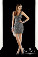 Alyce Claudine 2357 V Neck Short Dress image