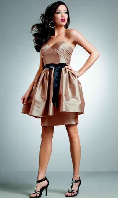 Jordan Iridescent Taffeta Short Bridesmaid Dress 238