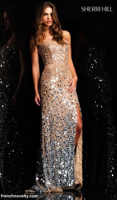 Sherri Hill Fully Sequined Prom Evening Dress 2434: French Novelty
