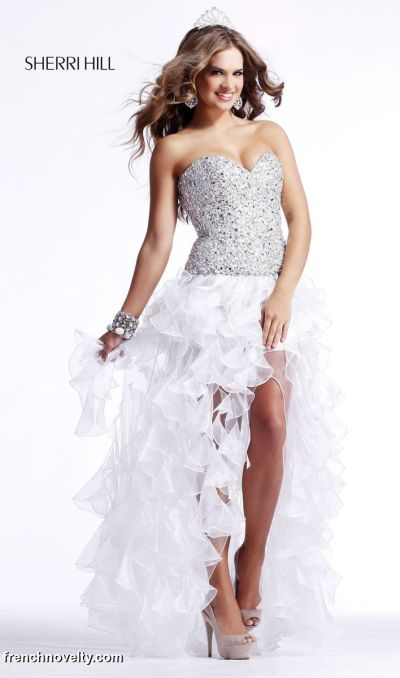 Sherri Hill Ruffle Tiered Beaded Prom Dress 2463: French Novelty