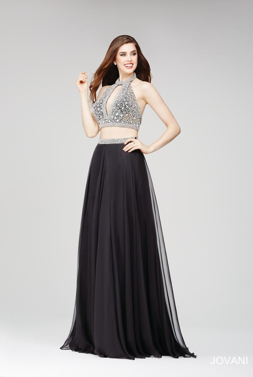 Jovani 24872 two piece prom dress french novelty for Wedding dress shops in knoxville tn
