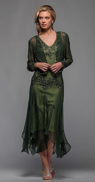 Scala Tea Length Mothers Wedding Dress 25397