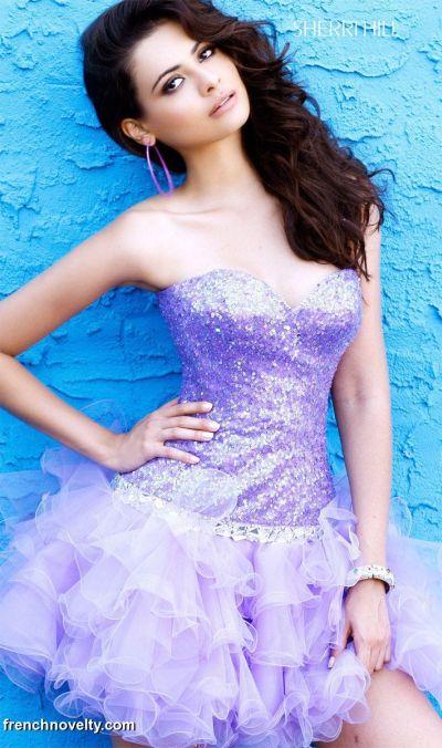 Short Ruffle Prom Dresses 2011 Sherri Hill Beaded Party Dress 2541 ...