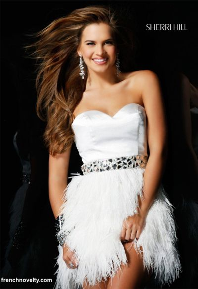 Short Feather Prom Dresses 2011 Sherri Hill Prom Dress 2542 ...