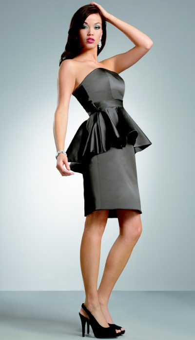 Jordan Short Pencil Skirt Bridesmaid Dress With Peplum 256 French Novelty