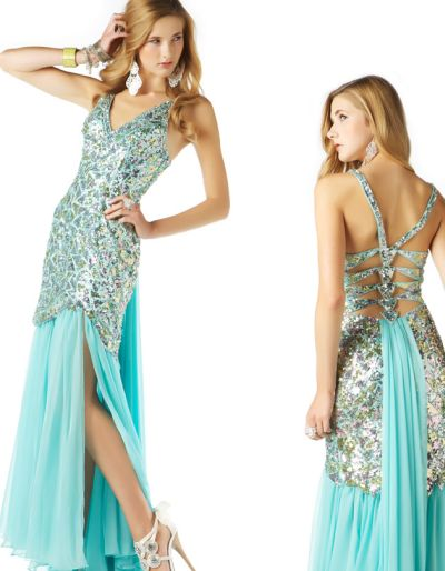 MacDuggal Sequin Mermaid Prom Dress with Strappy Back 2578M: French ...