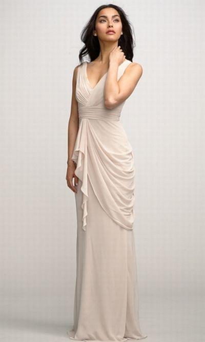 4aa8e5abb3 Watters 2591 Violet V Neck Long Chiffon Bridesmaid Dress  French Novelty