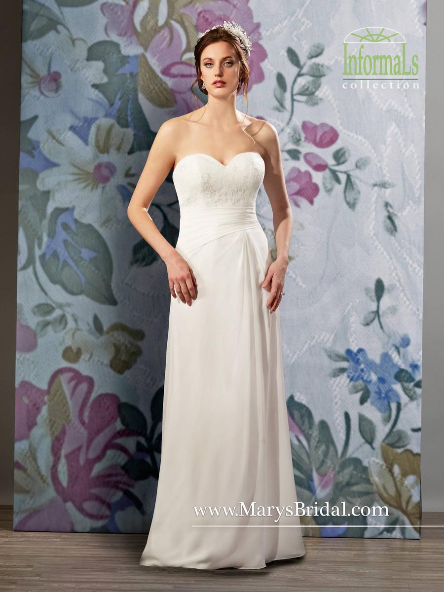 Marys Bridal Informals 2598 Lace Chiffon Gown with Bolero: French ...