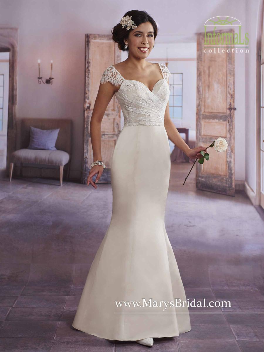 Marys bridal 2625 informal lace satin wedding dress for Informal lace wedding dress