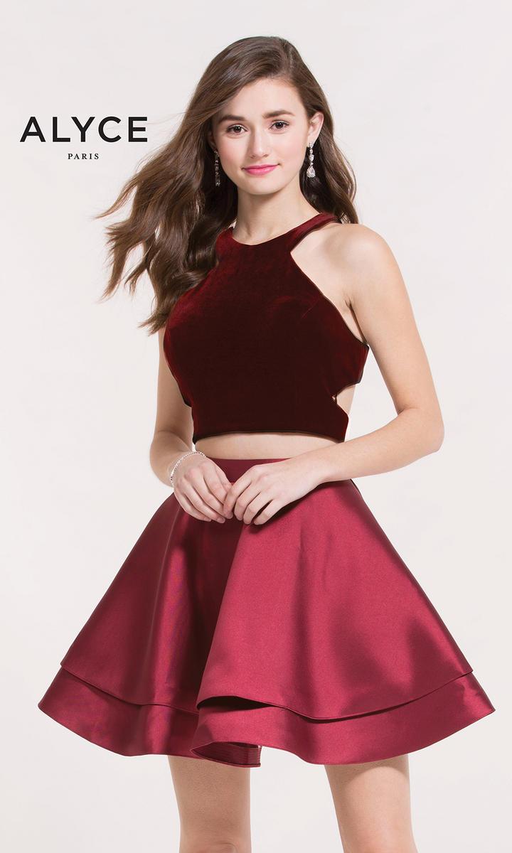 Kalani Hilliker By Alyce 2648 Velvet 2pc Short Prom Dress