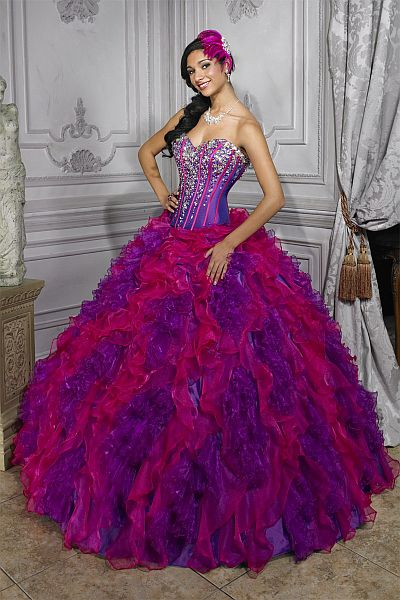 Quinceanera Collection Prom Dress by House of Wu 26681: French Novelty